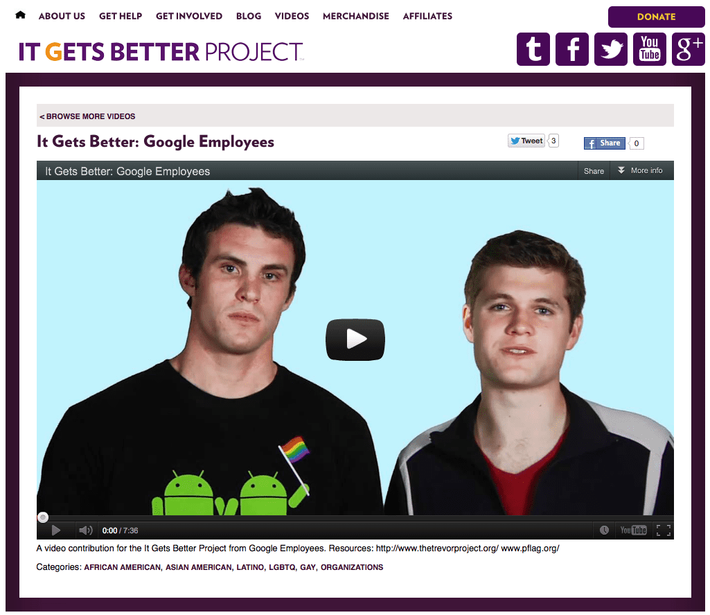 It Gets Better Website