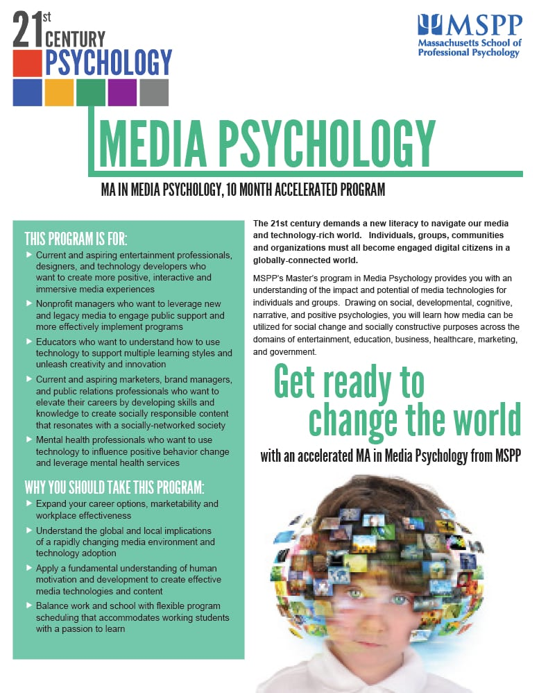 Media Psychology Master's Degree MSPP.edu